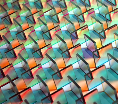 color glass geometric dichroic glass installations by chris wood