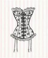 Corset Corsets Lingerie Lace Pages Coloring Mannequins Clip Zentangle Doodles Mayme Google Retro Dibujo Es Corse Dessiner Un Shabby Really sketch template
