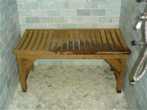 Ipe Shower Bench by Thinking Of Building A Bench For In My Shower