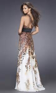printed bridesmaid dresses a line leopard print wedding dress with one shoulder sang maestro