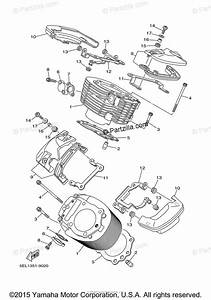 Yamaha Motorcycle 2001 Oem Parts Diagram For Cylinder