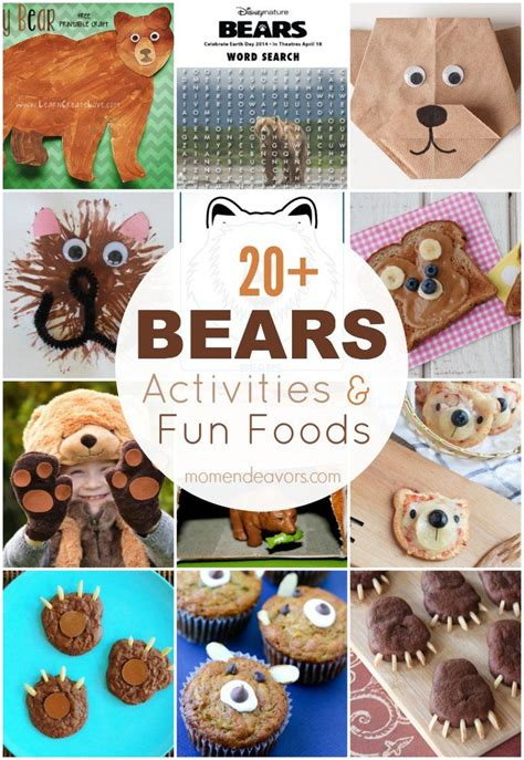 20 bears activities printables and foods 489 | 51e6bc5ff5f2aa625d0c86bf7c4f9d50