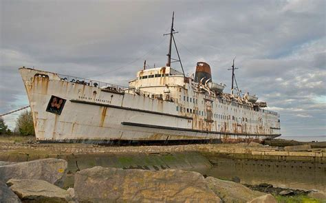 11 Abandoned Ferries Ocean Liners Cruise Ships ...