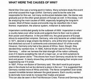 Essays on ww1 examples of satire essays essay on world war 1 causes ...