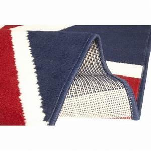 Tapis Drapeau Anglais : tapis union jack drapeau anglais bleu et rouge ~ Teatrodelosmanantiales.com Idées de Décoration