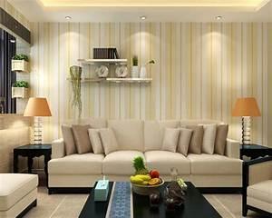 Beibehang Vertical striped wallpaper 3D living room dining ...