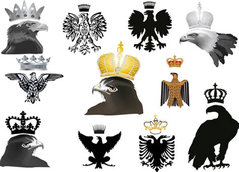 eagle sign  crown vector material vector