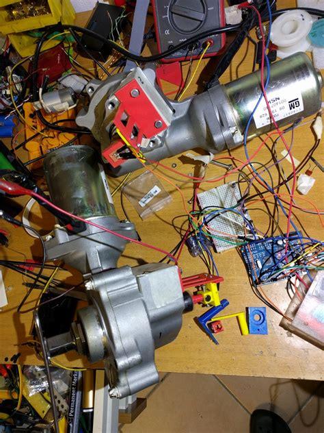 Geared motor using electric power steering