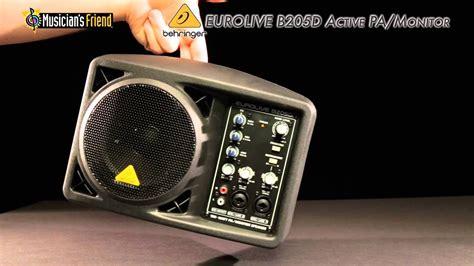 behringer eurolive b205d active pa monitor speaker