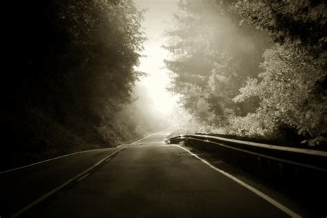 long lonely road photograph  kerry langel