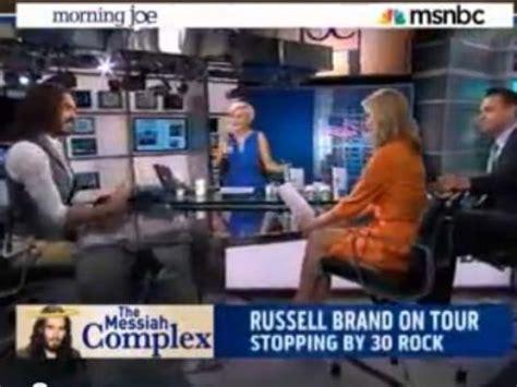 russell brand on morning joe russell brand mocks msnbc anchors