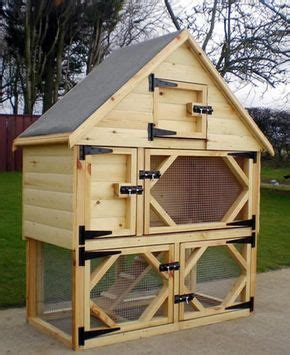 hutch company number single deluxe rabbit hutch with open bottom run and food
