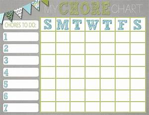 Mrs  This And That  Free Chore Chart Printable