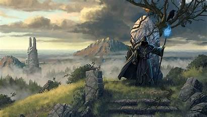 Wallpapers Wizard Necromancer Wizards Background Grimrock Legend