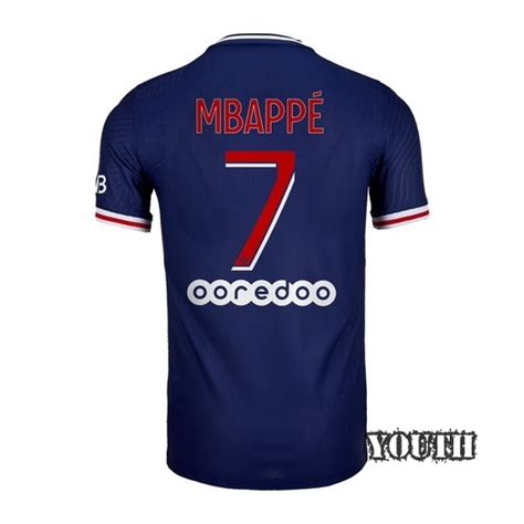 Mbappe became a world cup champion with france few days ago and took the fifa best young player award as well. Fantastic 2020/2021 Kylian Mbappe PSG Home Youth Soccer Jersey