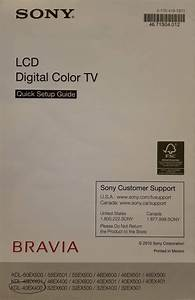 Find Your Manuals Here     Sony Bravia Kdl
