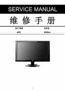 Aoc 936swplus Lcd Monitor Service Manual Service Manual