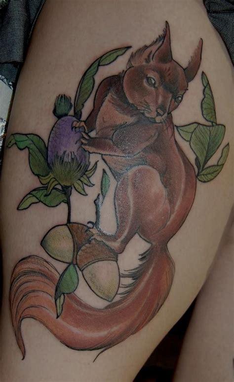 Squirrel Nuts Tattoo Reaching