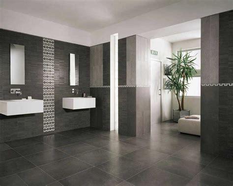 Modern Bathroom Floor Tile Ideas With Black Color Home