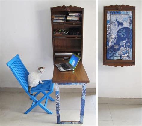bureau murale rabattable meuble bureau industriel et bureau mural diy en 63 idées