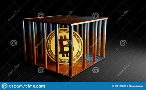 On may 18, bitcoin (btc) and the overall cryptocurrency market faced another round of selling as fud — fear, uncertainty and doubt — impacted investor. Concept Of Bitcoin Coin In Cage, Price Falling Down , 3D Rendering Stock Illustration ...