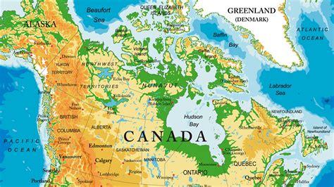 Mapa topográfico de Canadá