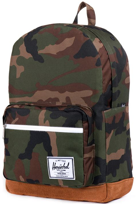 herschel pop quiz suede backpack camouflage tan ist