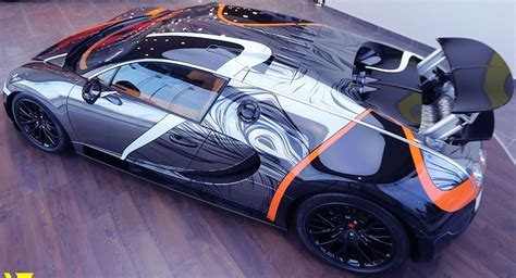 Absurdly-wrapped Bugatti Veyron Super Sport For Sale In