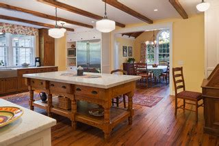 the organized kitchen antique oak flooring custom moulding and millwork 2724