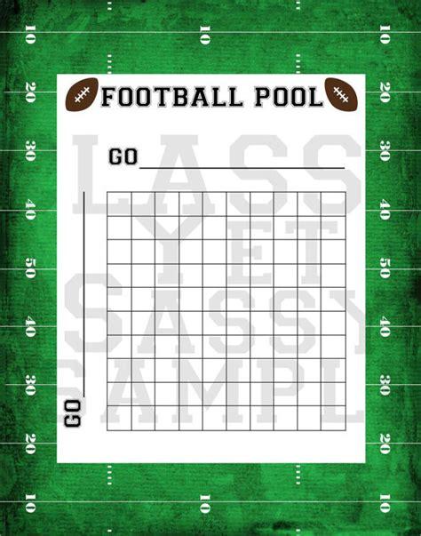 football pool template 8 football pool sles sle templates