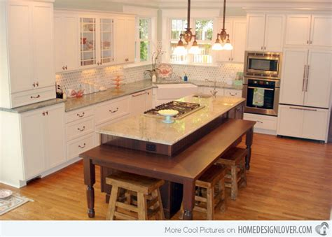 kitchen island table designs 15 beautiful kitchen island with table attached fox home