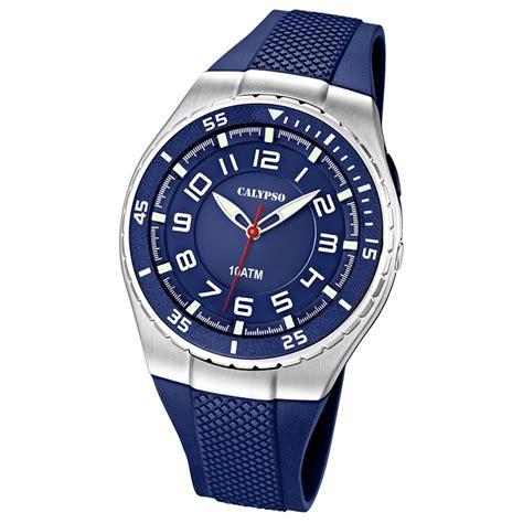 Calypso Herrenuhr blau, blaues Armband Analog Uhren ...