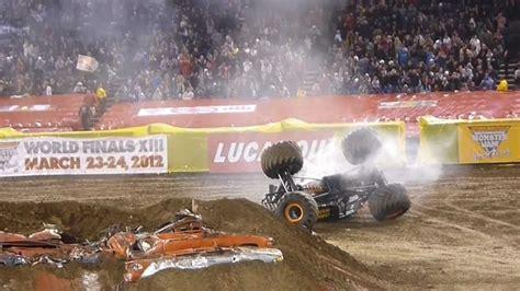 monster truck videos crashes huge crash maximum destruction monster truck monster