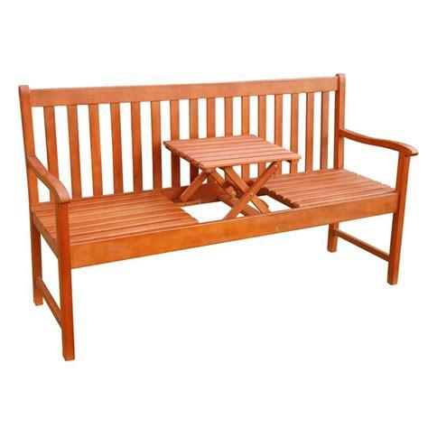 panchine da giardino in legno panchina da giardino in legno a 3 posti con tavolino a