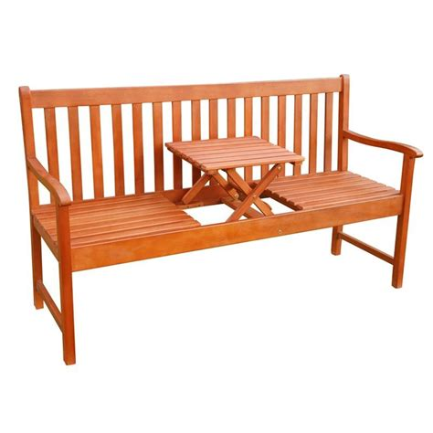 panchina da esterno panchina da giardino in legno a 3 posti con tavolino a