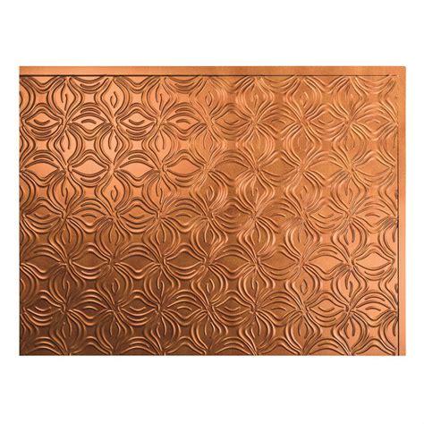 backsplash decorative tile fasade 24 in x 18 in lotus pvc decorative tile backsplash in antique bronze b63 31 the home