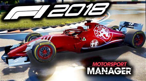 formel 1 2018 pc f1 2018 alfa romeo manager career motorsport manager pc