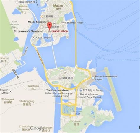 macau casino grand lisboa map location china