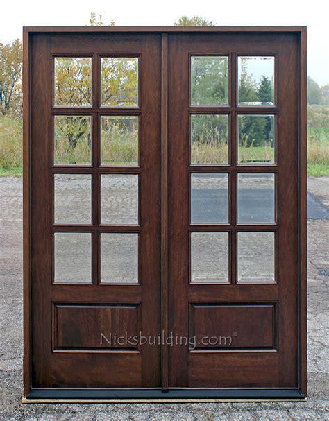 double doors  arch mahogany prehung double wood door