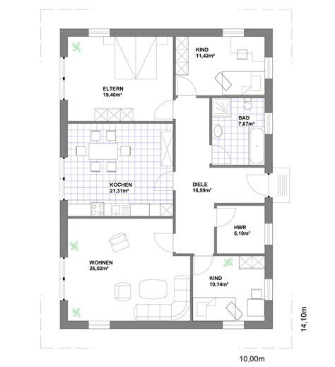 Grundriss Rechteckiges Haus by Rechteckbungalow Roland Heier Bauunternehmung Gmbh