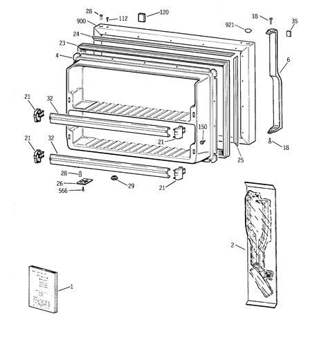 ge tbgjadarww top mount refrigerator parts sears partsdirect