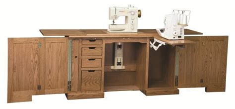 sewing machine cabinet amish deluxe sewing machine cabinet with a serger lift