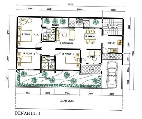 contoh denah rumah  skalanya desain rumah