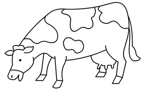 mewarnai gambar sapi makan rumput belajarmewarnai info