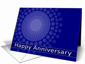Polka Dots Business Cards Happy Business Anniversary Business Card Blue Polka Dots