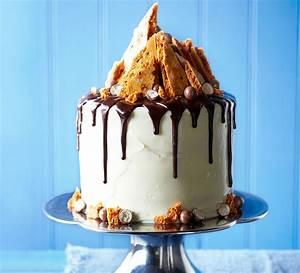 Malted chocolate drizzle & honeycomb cake BBC Good Food
