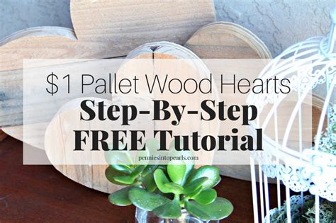 pallet wood hearts step  step tutorial