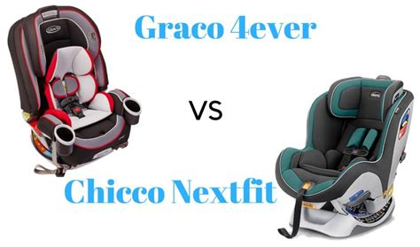 The Graco 4ever Vs. Chicco Nextfit Convertible Car Seat