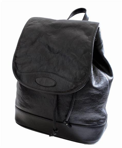 oroton black leather vintage cowhide travel bag carry  backpack   sale  stdibs