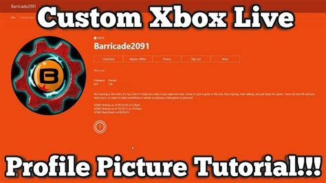 Xbox Live Custom Profile Picture Tutorial Youtube